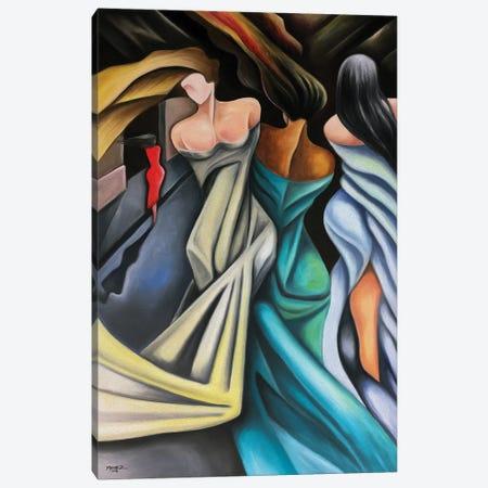The Red Dress Canvas Print #DXM62} by Dixie Miguez Canvas Art