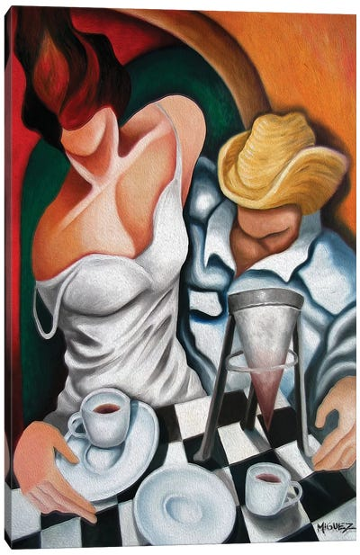 Coffee For Two Canvas Art Print