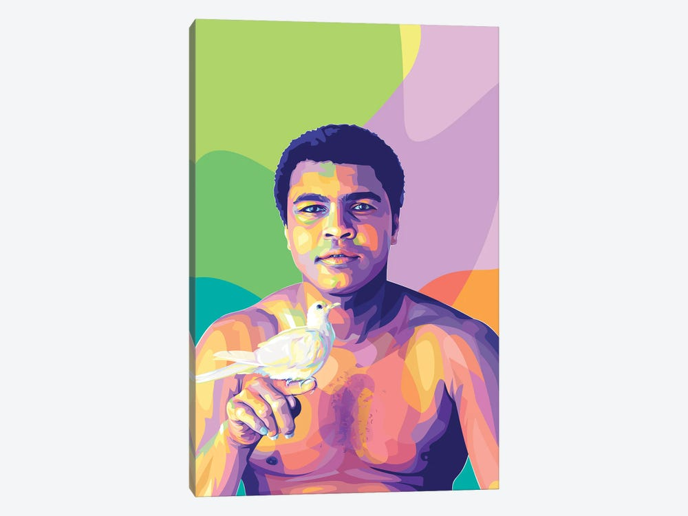 Muhammad Ali and The Dove by Dayat Banggai 1-piece Canvas Art
