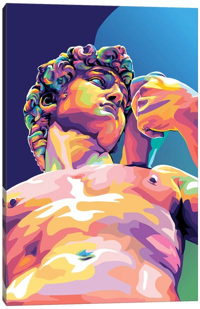 Michelangelo's David Canvas Art Print