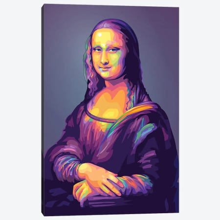 Re-creation of Monalisa Colorful Version Canvas Print #DYB108} by Dayat Banggai Canvas Wall Art