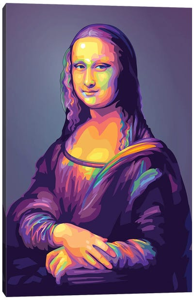 Re-creation of Monalisa Colorful Version Canvas Art Print