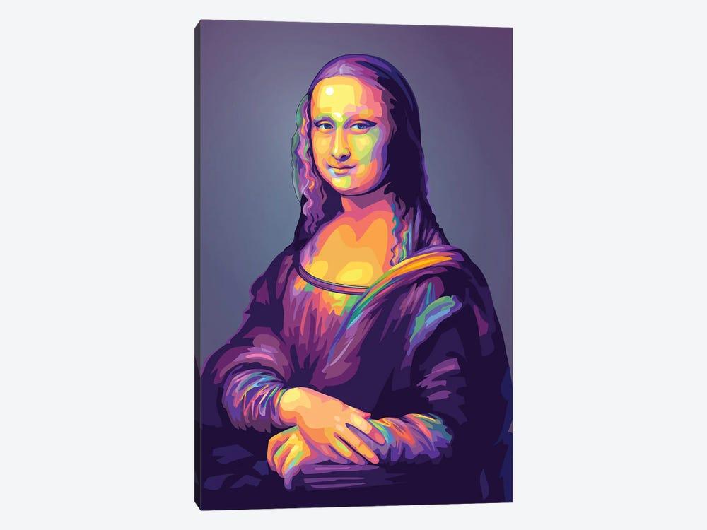Re-creation of Monalisa Colorful Version by Dayat Banggai 1-piece Canvas Art