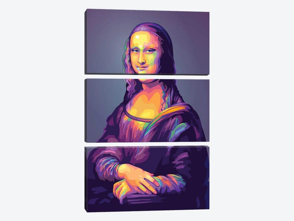 Re-creation of Monalisa Colorful Version by Dayat Banggai 3-piece Canvas Art