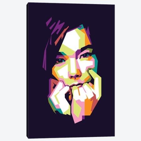 Bjork Canvas Print #DYB10} by Dayat Banggai Canvas Art Print