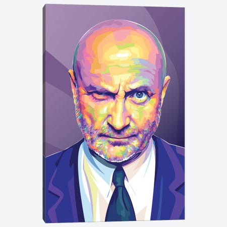 Phil Collins Canvas Print #DYB111} by Dayat Banggai Canvas Print