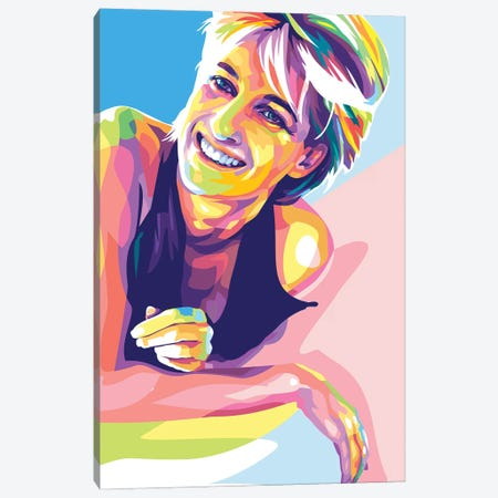 Princess Diana Canvas Print #DYB114} by Dayat Banggai Canvas Wall Art