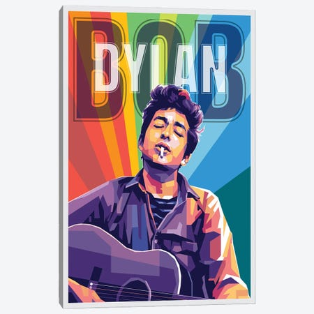 Bob Dylan Canvas Print #DYB11} by Dayat Banggai Canvas Print