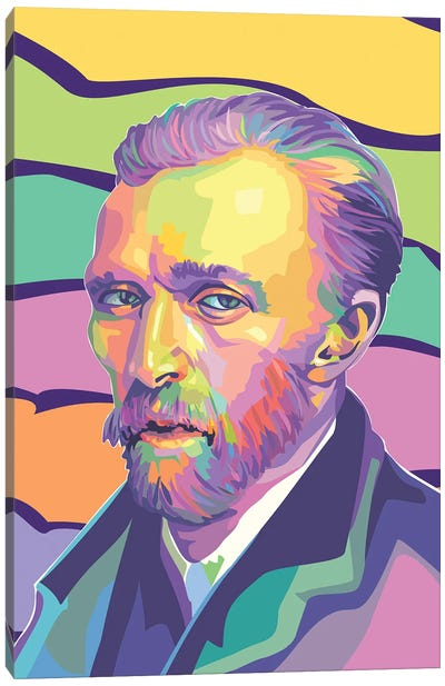 Vincent van Gogh Colorful Portrait Canvas Art Print
