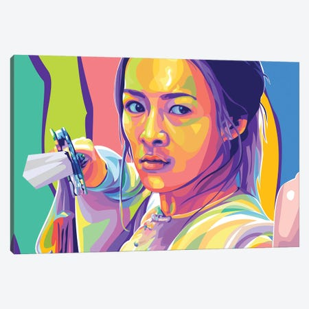 Zhang Ziyi Crouching Tiger, Hidden Dragon Canvas Print #DYB121} by Dayat Banggai Canvas Artwork