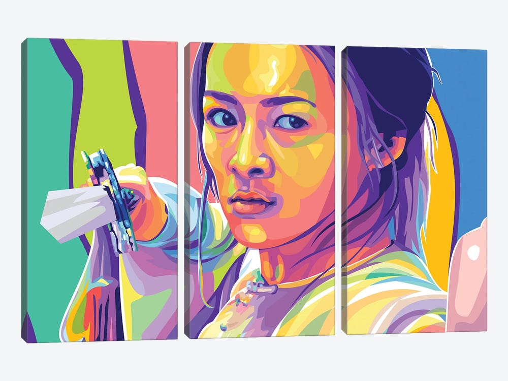 Zhang Ziyi Crouching Tiger, Hidden Dragon by Dayat Banggai 3-piece Art Print