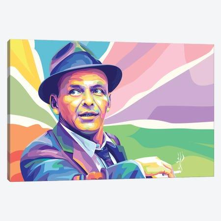 Frank Sinatra Colorful Portrait Canvas Print #DYB122} by Dayat Banggai Canvas Wall Art