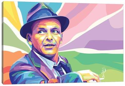 Frank Sinatra Colorful Portrait Canvas Art Print