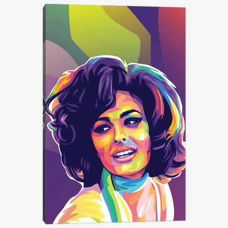 Sophia Loren Canvas Print #DYB123} by Dayat Banggai Canvas Art