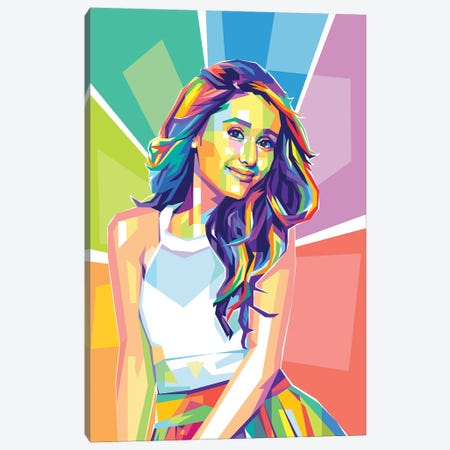 Ariana Grande Canvas Print #DYB127} by Dayat Banggai Art Print
