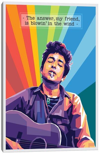 Bob Dylan Quote Canvas Art Print