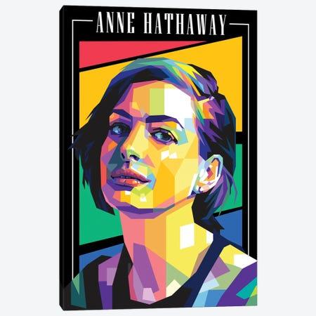 Anne Hathaway Canvas Print #DYB131} by Dayat Banggai Art Print