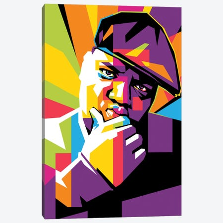 Notorious Big Canvas Print #DYB136} by Dayat Banggai Canvas Artwork