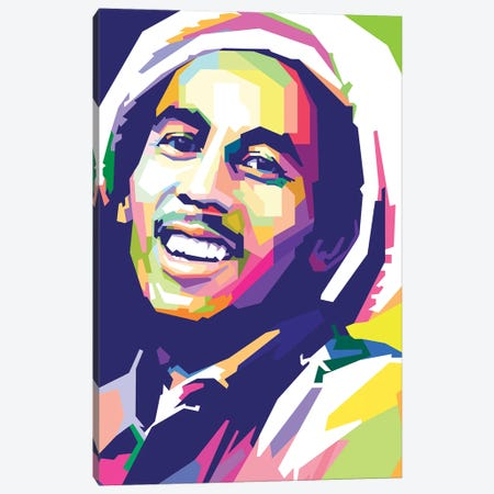 Bob Marley I Canvas Print #DYB13} by Dayat Banggai Canvas Print