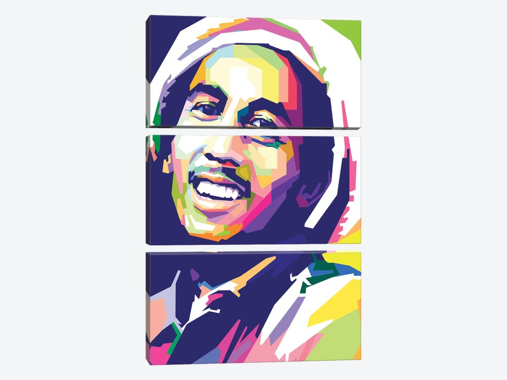 Bob Marley I by Dayat Banggai 3-piece Art Print
