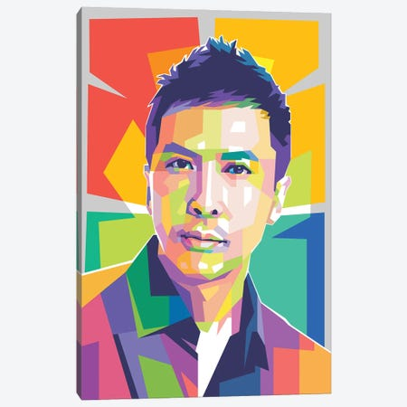 Donnie Yen Canvas Print #DYB140} by Dayat Banggai Canvas Art