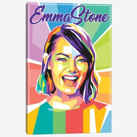Emma Stone Canvas Print #DYB142} by Dayat Banggai Canvas Wall Art