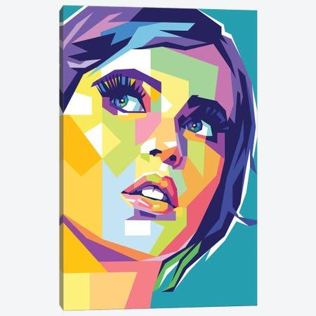 Felicity Jones Canvas Print #DYB143} by Dayat Banggai Canvas Artwork