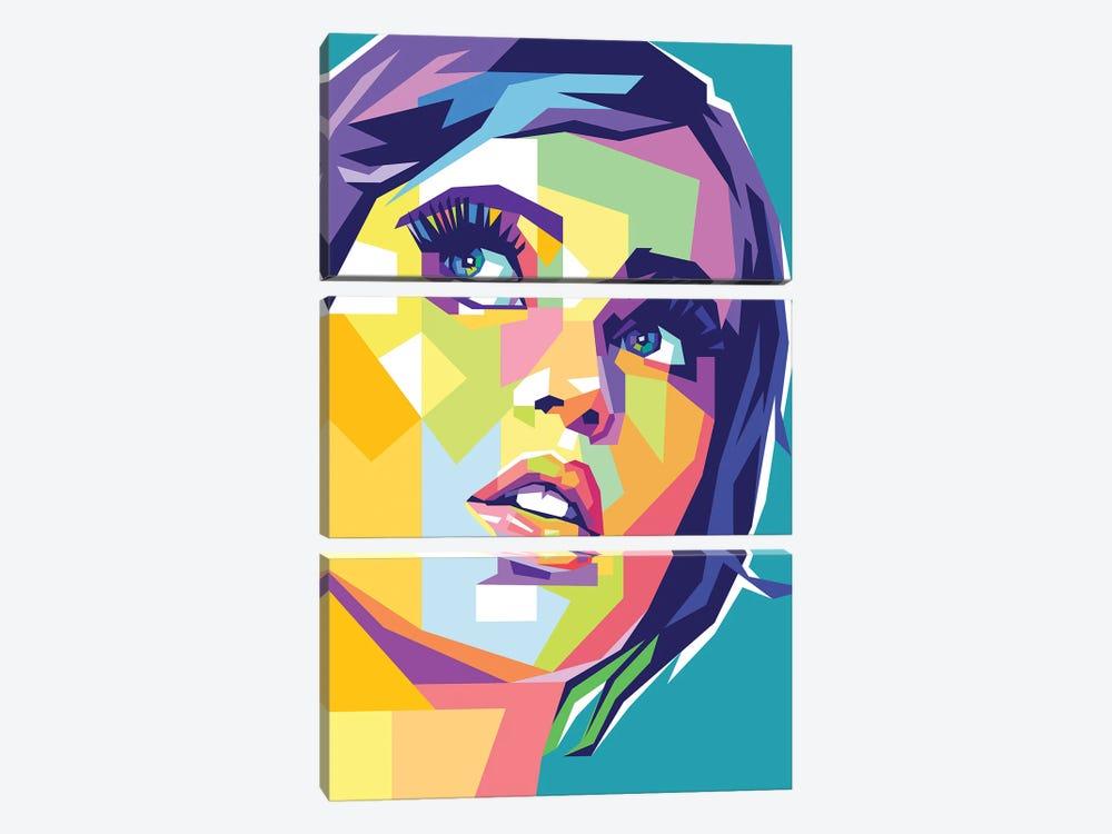 Felicity Jones by Dayat Banggai 3-piece Canvas Art Print