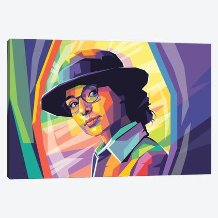 Gal Gadot Canvas Print #DYB144} by Dayat Banggai Canvas Art Print