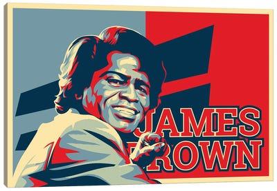 James Brown Canvas Art Print