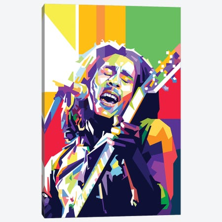 Bob Marley II Canvas Print #DYB14} by Dayat Banggai Canvas Artwork