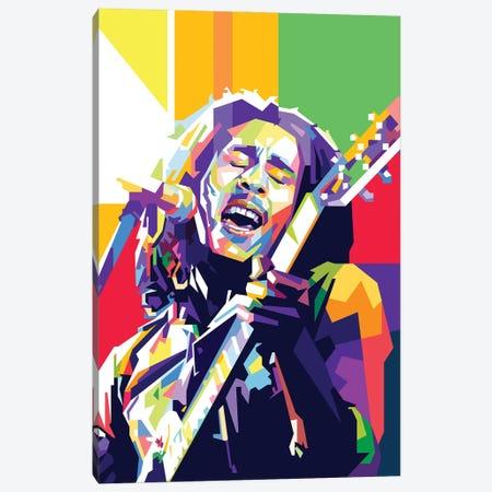 Bob Marley II Canvas Print #DYB14} by Dayat Banggai Canvas Artwork