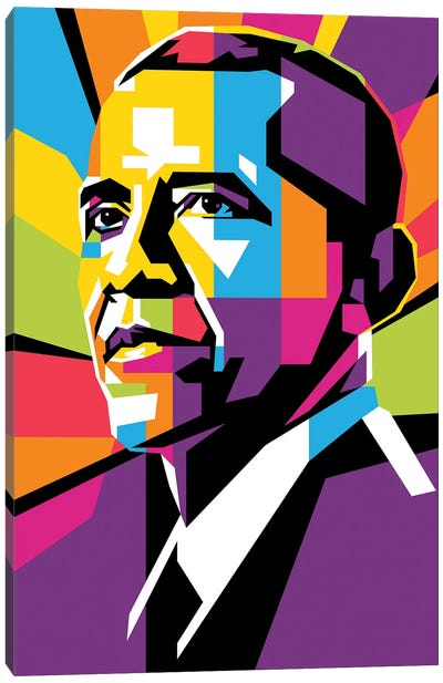 Barack Obama II Canvas Art Print