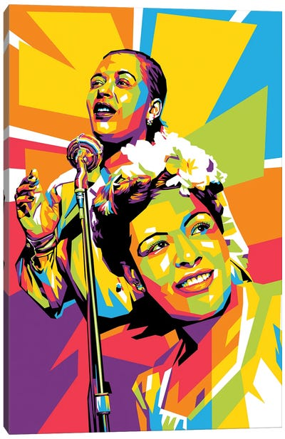 Billie Holiday III Canvas Art Print