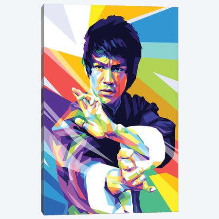 Bruce Lee I Canvas Print #DYB17} by Dayat Banggai Canvas Art
