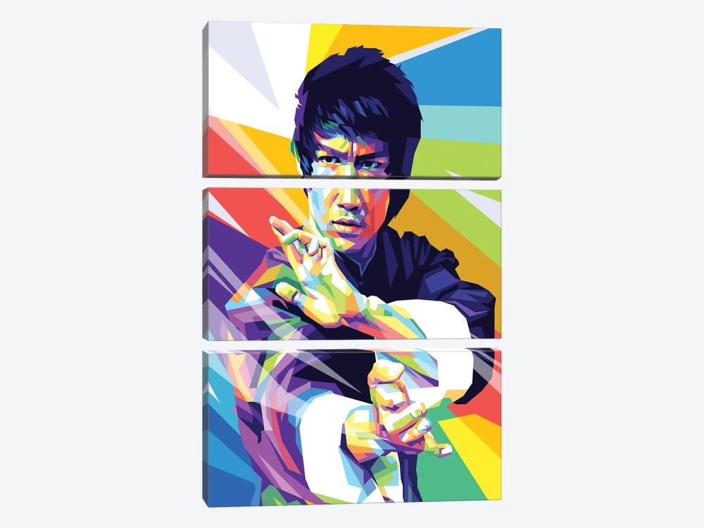 Bruce Lee I by Dayat Banggai 3-piece Canvas Print
