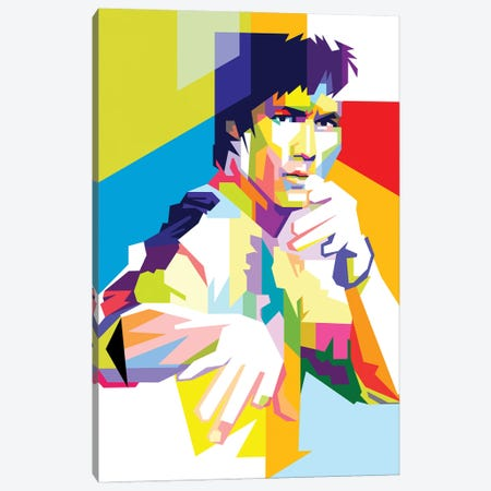 Bruce Lee II Canvas Print #DYB18} by Dayat Banggai Art Print