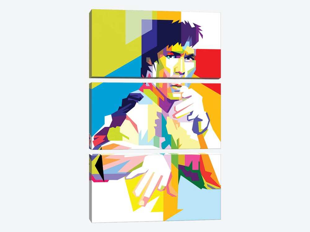 Bruce Lee II by Dayat Banggai 3-piece Canvas Wall Art