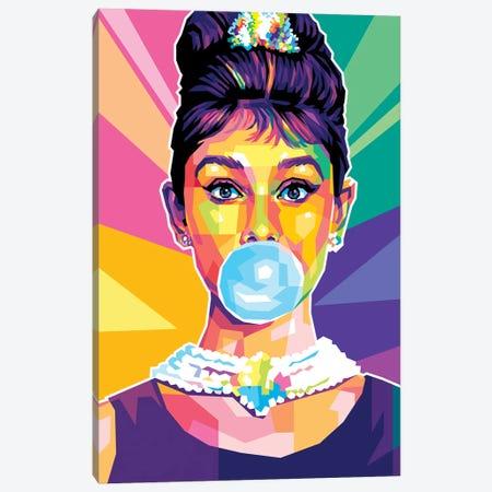 Audrey Hepburn Canvas Print #DYB197} by Dayat Banggai Canvas Artwork