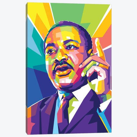 Martin Luther King JR II Canvas Print #DYB199} by Dayat Banggai Canvas Print