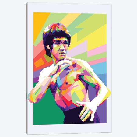 Bruce Lee III Canvas Print #DYB19} by Dayat Banggai Art Print