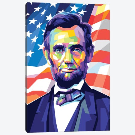 Abraham Lincoln Canvas Print #DYB1} by Dayat Banggai Canvas Print