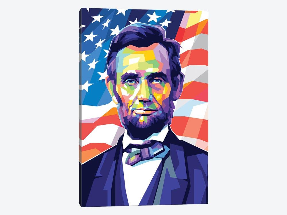 Abraham Lincoln by Dayat Banggai 1-piece Canvas Print