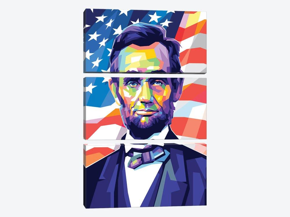 Abraham Lincoln by Dayat Banggai 3-piece Canvas Print