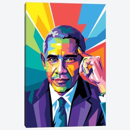 Obama Was Thinking Canvas Print #DYB203} by Dayat Banggai Canvas Print