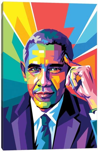 Obama Was Thinking Canvas Art Print