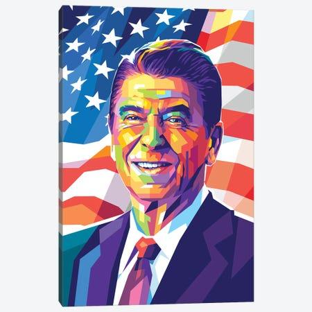 Ronald Reagan Canvas Print #DYB204} by Dayat Banggai Canvas Art