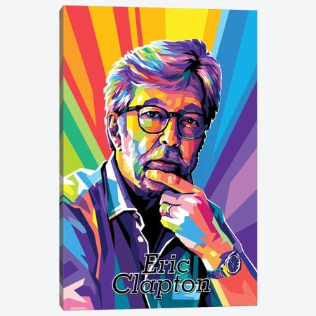 Eric Clapton Canvas Print #DYB205} by Dayat Banggai Canvas Wall Art