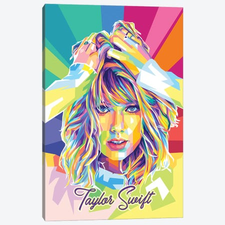 Taylor Swift II Canvas Print #DYB209} by Dayat Banggai Canvas Print