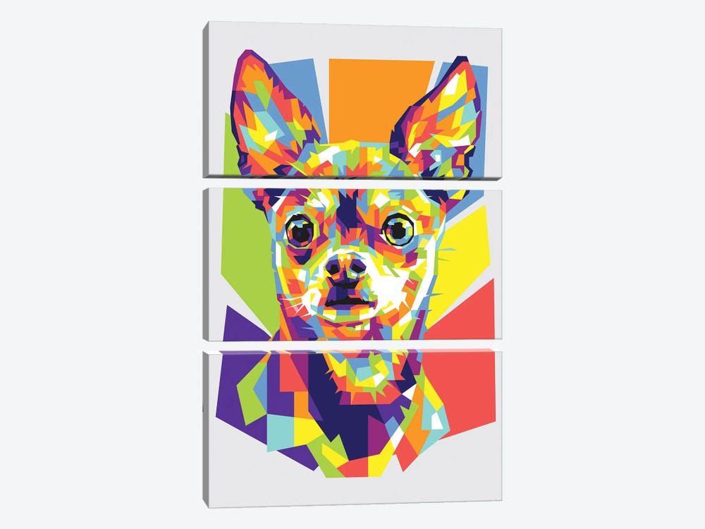 Chihuahua by Dayat Banggai 3-piece Canvas Print
